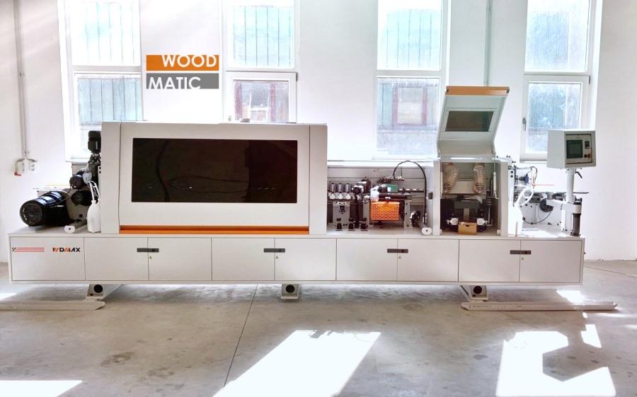 mașina de aplicat cant cu prefrezare și țicling de suprafață